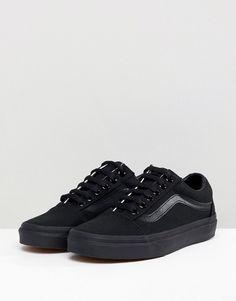 02dc2ab3e2ca Vans Classic Old Skool Sneakers In All Black