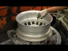 How It's Made: Alloy Wheels. Aluminum/Magnesium/Titanium alloy. Lighter so more maneovrable.