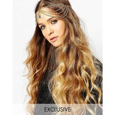 Designsix Exclusive Opal Hair Chain ($26) ❤ liked on Polyvore featuring accessories, hair accessories, gold and hair chain accessories