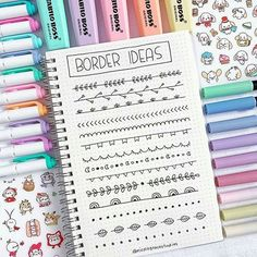 More simple border ideas that you can use in your bullet journal or in your stud. - More simple border ideas that you can use in your bullet journal or in your study notes 🥰 Let me - Bullet Journal School, Bullet Journal Inspo, Bullet Journal Banner, Bullet Journal Notebook, Bullet Journal Aesthetic, Bullet Journal Ideas Pages, Bullet Journal Period Tracker, Journal Fonts, Stationery Craft