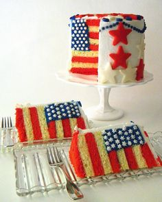 Flag cake (May 2013 Pinner: @Samantha Hinson)