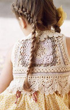 Crochet bodice for little girls dress