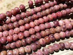 8mm Round Bone Beads, Handcrafted Lavender Mauve Rose Purple Color, Native…