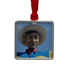 BIG TEX the biggest cowboy in Texas Christmas Tree Ornament #texas #BigTex #ornament #cowboy