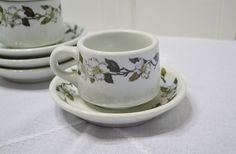 Vintage Shenango China Cup and Saucer Set of 4 by PanchosPorch