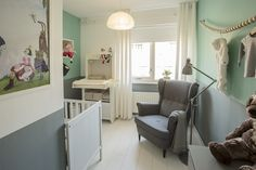 Hangende wieg voor een modern en design interieur babykamer