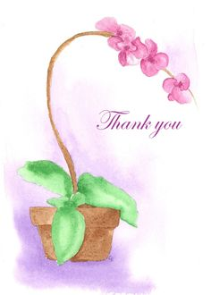 Thank You Pink Orchid Flower Plant Blank card. Personalize any greeting card for no additional cost! Cards are shipped the Next Business Day. Thank You Wishes, Thank You Quotes, Thank You Cards, Orchid Flower Plant, Thanks Gif, Thanks Messages, Thank You Images, Thankful Quotes, Pink Orchids