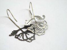 Pendientes flor, Silver earrings dangle, Pendientes plata, Sterling silver earrings, Pendientes vintage, Boho earrings, Pendientes calados de LaBEJoyeria en Etsy