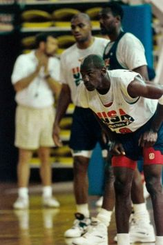 The GOAT is locked in during a Dream Team practice.