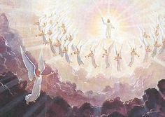 """Las Virtudes (también llamados """"Angeles de La Guardia"""") son aquellos ángeles que tienen como misión ayudar al ser humano a acercarse a Dios, bajan a la tierra, pero no como forma humana, sino como entes abstractos. Cada ser humano posee sus virtudes que lo ayudan a acercarse a Dios y así finalmente a la hora de la muerte gozar en su comunión."""