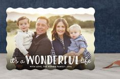 """Life Is Wonderful"" - Modern, Full-Bleed Photo Holiday Photo Cards in White by GeekInk Design."