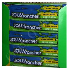 NOSTALGIC CANDY - JOLLY RANCHER APPLE STIX - 6 Sticks - Old Fashioned Candies #JollyRancher