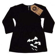 Long Sleeved Black Bat Dress