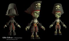 Gillie Cabeza low poly model by benjaminred