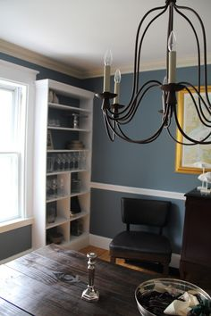 Benjamin Moore Hamilton Blue Dining Room