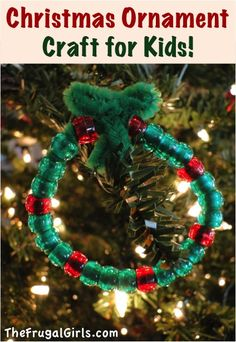 Easy Christmas Ornament Craft for Kids! ~ from TheFrugalGirls.com ~ this cute little ornament will come together in a snap, and is super-easy even for little ones to make! #ornaments #thefrugalgirls
