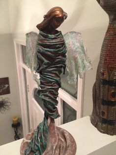 Fabric Art, Sculptures, Dreadlocks, Hair Styles, Beauty, Beleza, Dreads, Sculpting, Hair Looks