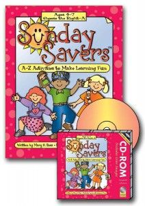 Sunday Savers books and CD-ROMs, Primary lesson activities, CTR-A, Primary 2 manual, Activities to Make Learning Fun, Gospel Grab Bag, gospe...