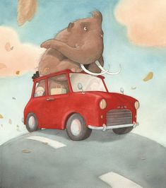 How to Raise your (pet) Mammoth (Quentin Gréban) Elephant Illustration, Children's Book Illustration, Watercolor Illustration, Elephant Art, Character Creation, Cute Art, Wallpaper, Childrens Books, Book Art