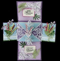 Precut and prescored Twist and Pop up Panel card