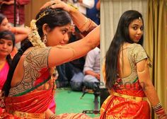 Bride in Thread Work Blouse | Saree Blouse Patterns