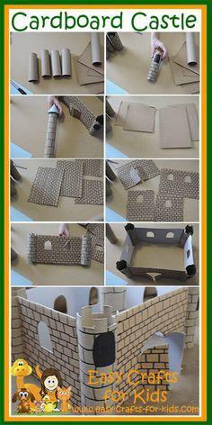 Recycle that old cardboard into great Medieval crafts for kids, like our wondrous castle!