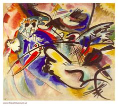 Kandinsky- composition on yellow