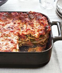 Recipe of the Day: Squash and Broccoli Rabe Lasagna. Because veggies ...