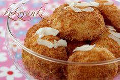 Kokosanki (przepis II) Egg Yolks, 2 Eggs, Foods With Gluten, Tray Bakes, Icing, Coconut, Gluten Free, Tasty, Kitchens