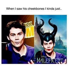 maleficent, dylan o'brien, and funny image