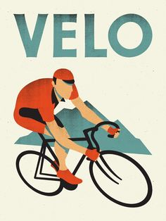 Velo bicycle print by Doublenaut