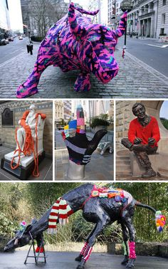 Yarn Bombs! 51 Victims of Knitted Graffiti  //  Public statues are sitting ducks for legions of yarn bombers. They'll come out in the off hours and swarm over public art to turn it into something even more interesting.