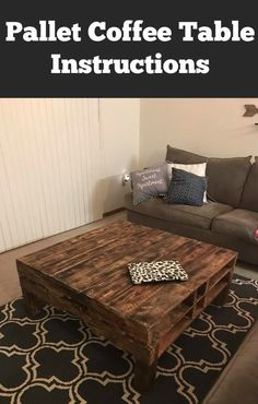 I want a coffee table made out of pallets now! Love this!
