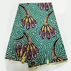 LSFM-5 Mint African Fabrics Super Wax Print /Ankara Fabric Retro Craft…