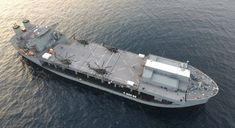USNS Lewis B. Puller (T-ESB 3) employs a flight deck for helicopter operations. T-ESB 3 is able to carry four MH-53E helicopters or five Twenty Foot Equivalent Unit Military Vans and still have room to maneuver and store other equipment.