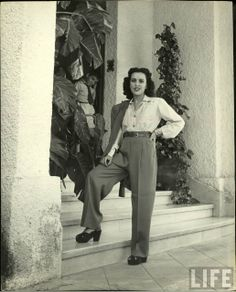 Aline Johnson De Menocal ( Havana Glamour Girl ) 1946 Photographer:Nina Leen