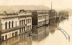 Front St, Marietta, OH, 1913 flood