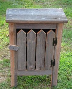 Old Barn Wood Cabinet. This Simple, Yet Striking Piece of Old Barn Wood Furniture Will Look Great in a Country Kitchen Decor or Any Room in Your Home. The Barnwood Cabinet Was Crafted Out of Reclaimed Barn Wood Salvaged From an Old Ohio Barn That Has Withstood Nature's Elemets for Over a Century. An Ideal Collectible That Is Destined to Become An Heirloom. A Very Unique Gift Idea. This Barnwood Cabinet Measures approx 18″ x 9″ x 29″ with a picket front. | Eco Friendly Furniture
