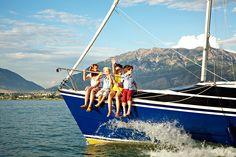 kids on a boat.