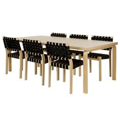 Artek tables are based on different combinations of Alvar Aalto's L-leg and table tops. Alvar Aalto introduced the bent L-leg for the first time in 1933 and it became a standard component of Aalto's pieces of furniture.