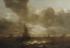 Jan Porcellis - Zeegezicht bij Dordrecht
