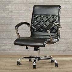 Kevin office desk chair white or black Varick Gallery Sunshine Coast Mid Back Task