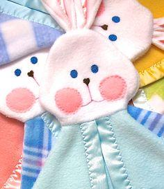 Soft cuddly blue bunny blanket Fisher Price by SuziesImaginarium