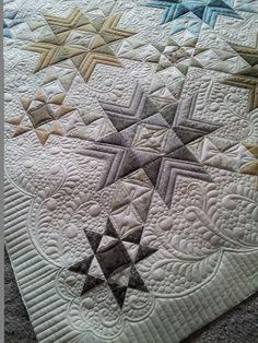 Pumpkin Patch Quilter: Ellen's Wyoming Valley Star Finished - and I Won A Blue Ribbon!