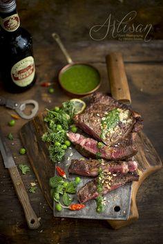 https://flic.kr/p/CTaDqw   beef steak with kale pesto and almonds