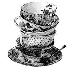 tea cup drawing