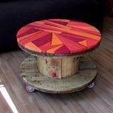 Vem que aqui tem mais estilo pra sua casa! Da loja Paletá! #foradesérie #criatividade #arte #feitoàmão #paletá #pallet #bobina #mesa #decoração #rosa #cor #maiscor
