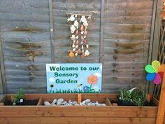 sensory garden - I like the shells as a sound sense