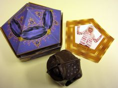 Make your own chocolate frog boxes!  Harry Potter Party