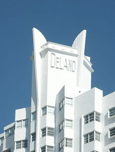 The Delano — Miami Bauhaus, Art Deco Period, Art Deco Era, Art And Architecture, Architecture Details, Art Nouveau, Miami Art Deco, Amsterdam, Pop Art